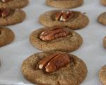 Pecan-Topped Gingersnap Cookies