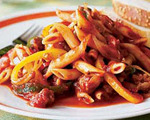 Penne Pasta with Italian Sausage and Bell Peppers