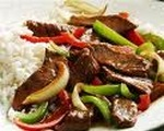 Green Pepper Steak with Rice