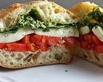 Pesto Caprese Sandwich