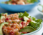 Pico De Gallo Shrimp and Avocado Salad