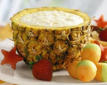 Pineapple, Honey and Yogurt Dip