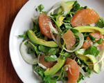 Pink Grapefruit and Creamy Avocado Salad