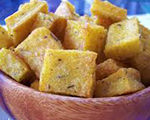 Polenta and Cheese Croutons
