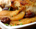 Pork Chops, Pears and Cherries Braised with Beer