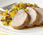 Pork Chops with Orange Chipotle Salsa