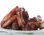 Pork Ribs with Sticky Maple Sauce