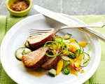 Pork Tenderloin with Mango Salad
