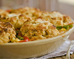 Cornbread topped Chicken Pot Pie