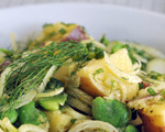 Potato Salad with Fava Beans and Fennel