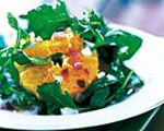 Prosciutto and arugula salad with blood oranges and pistachio nuts