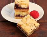 Raspberry and white chocolate bars