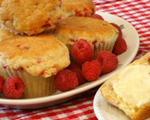 Raspberry Buttermilk Muffins