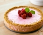 Raspberry souffle cheesecake