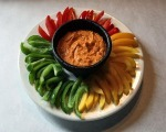 Roasted Red Pepper Pesto Dip