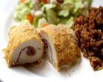 Chicken Rolls with Ham and Mushroom