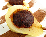Ricotta and Cocoa Filled Pears