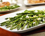 Roasted Asparagus with Lemon &amp; Goat Cheese