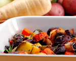 Roasted Fall Vegetables with Pine Nut Pesto