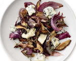 Roasted Mushrooms and Onions with Gorgonzola