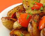 Roasted Potatoes, Peppers and Shallots