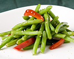 Roasted Red Peppers with Green beans