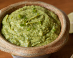 Roasted Tomatillo and Avocado Dip
