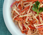Root Vegetable Slaw with Fresh Orange Dressing