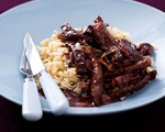 Rosemary and Red Wine Beef Sauté