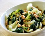 Stir Fried Bok Choy and Cashews