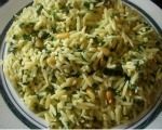 Orzo with Spinach and Walnuts