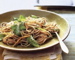 Soba Noodles with Shrimp, Snow Peas & Carrots