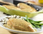 Spinach Stuffed Chicken with Dijon Sauce