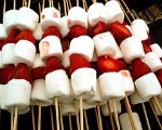Toasted Strawberry & Marshmallow Skewers