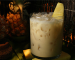 Rum, Coconut and Pineapple Tiki Cocktail