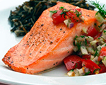 Salmon with Fennel and Dill Salsa