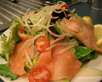 Papaya and Smoked Salmon Salad
