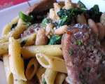 Penne with Broccoli Rabe and Sausage 