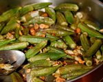 Sauted Okra with Cashews