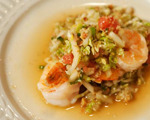 Sauted Shrimp with Grapefruit Salad   