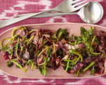 Sauted Watercress and Radicchio with Balsamic Vinegar