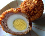 Scottish Sausage Packets with Boiled Eggs