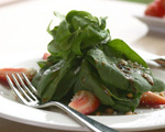 Sesame, Strawberry and Spinach Salad