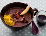 Sherried Black Bean Soup with Chorizo and Yellow Rice