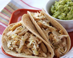 Shredded Chicken and Onion Tacos