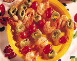 Quick tortellini shrimp kebabs