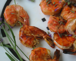 Shrimp with Lemon and Saffron Olive Oil