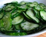 Sliced Cucumber Salad