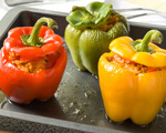 Southwest-style stuffed peppers