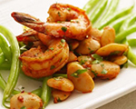 Spanish Shrimp and Green Bean Sauté